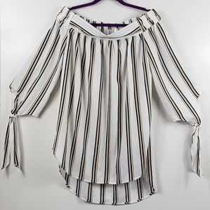 ETWO Off Shoulde High Low stripped Large Top